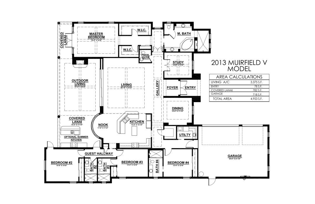 Stock Signature Homes Twin Eagles Muirfield V Floor Plan