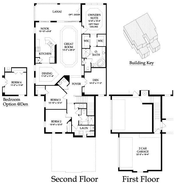 Pulte Twin Eagles Covent Garden Tourmaline Floor Plan