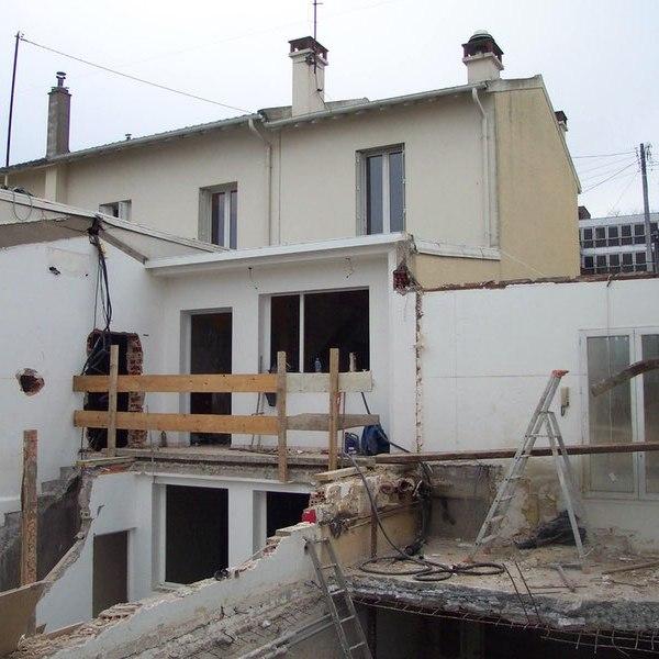 chantier maison contemporaine