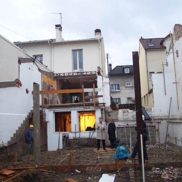 chantier maison particulier