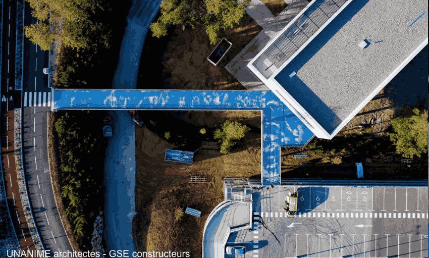 vue aérienne site industriel