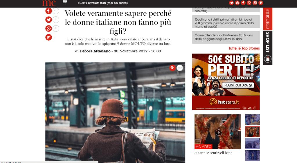 Le donne italiane non fanno più figli: ecco perché