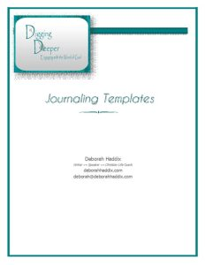 DD Adult Journaling Templates