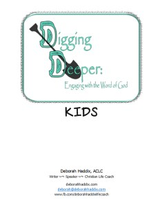 Digging Deeper Kids Cover