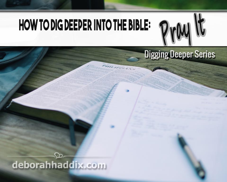 Three ways to pray the Bible plus some practical tips for doing so.