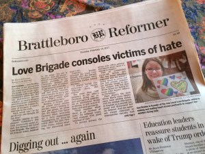 Local Love Brigade Counters Hate with Love