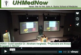 "Guest speaker Dr. Abraham Verghese, ""Physicians are Always Engaged in Stories"""
