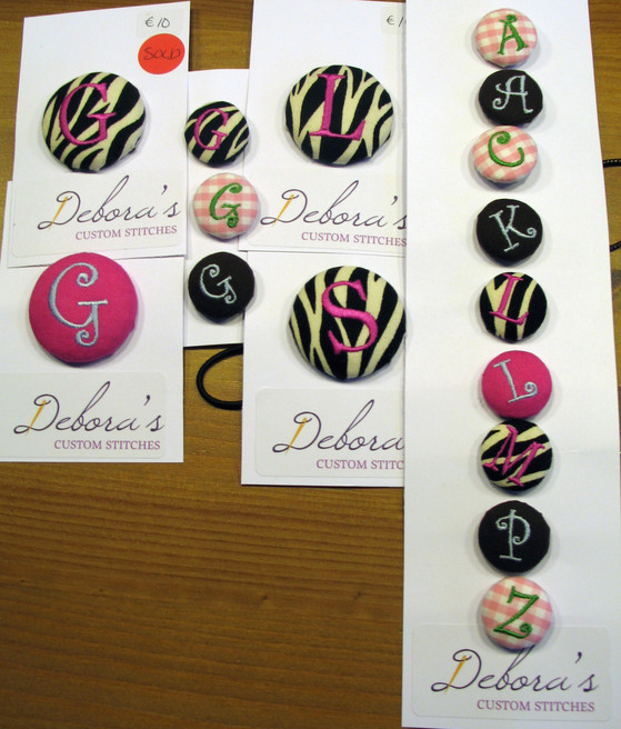 Debora's Custom Stitches Buttons