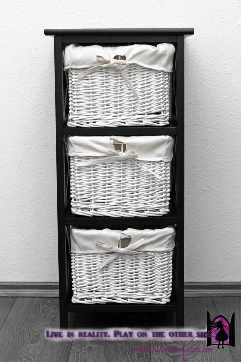 Chest of basket weaved drawers in Organization Ideas: Storage of School Supplies by Debra Kristi, author