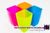 Plastic containers in Organization Ideas: Storage of School Supplies by Debra Kristi, author