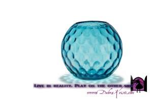 Round Diamond Effect Vase in Organization Ideas: Storage of School Supplies by Debra Kristi, author