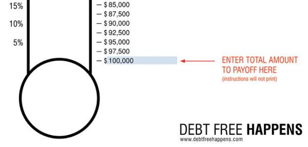 Free Debt Thermometer Template 1