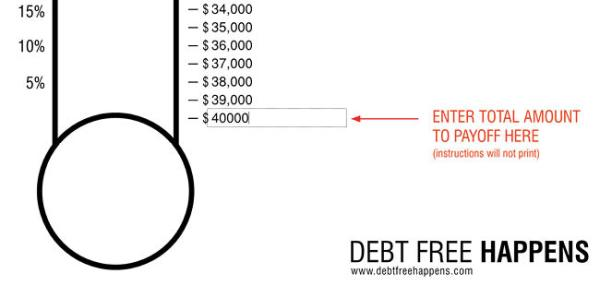 Free Debt Thermometer Template