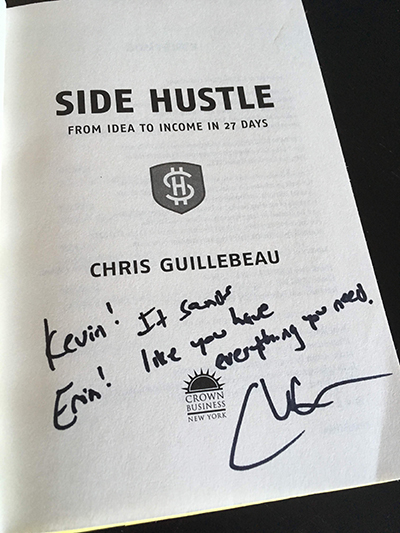 Debt Free Happens - Side Hustle Book Signed