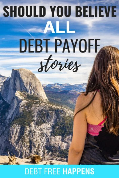Should you believe all debt payoff stories