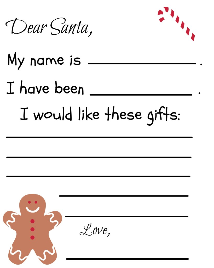 Dear Santa Letter Template Pdf