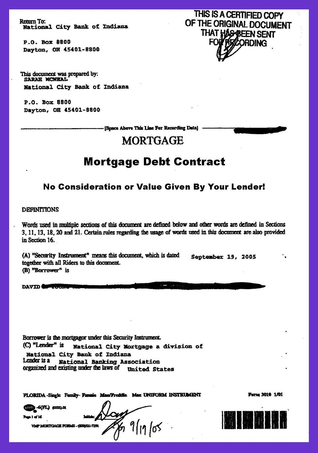 in mortgage debt  your lender stole your mortgage note