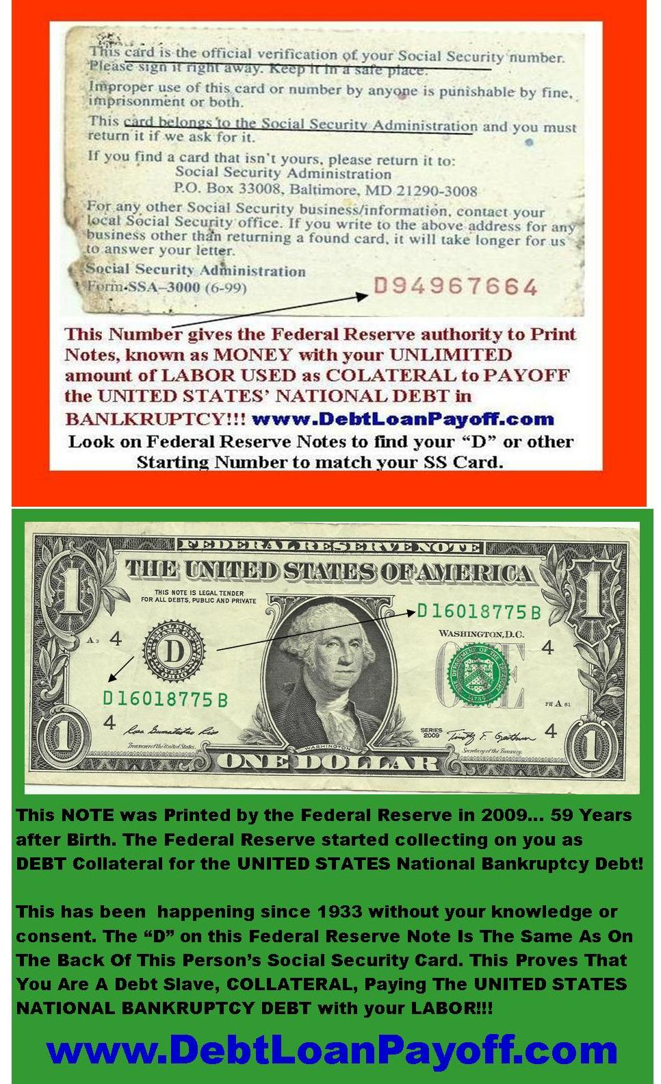 Federal Reserve Notes From Social Security Insurance Pays
