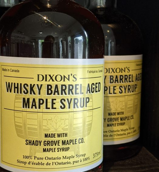 Dixons Whiskey Barrel Aged Maple Syrup