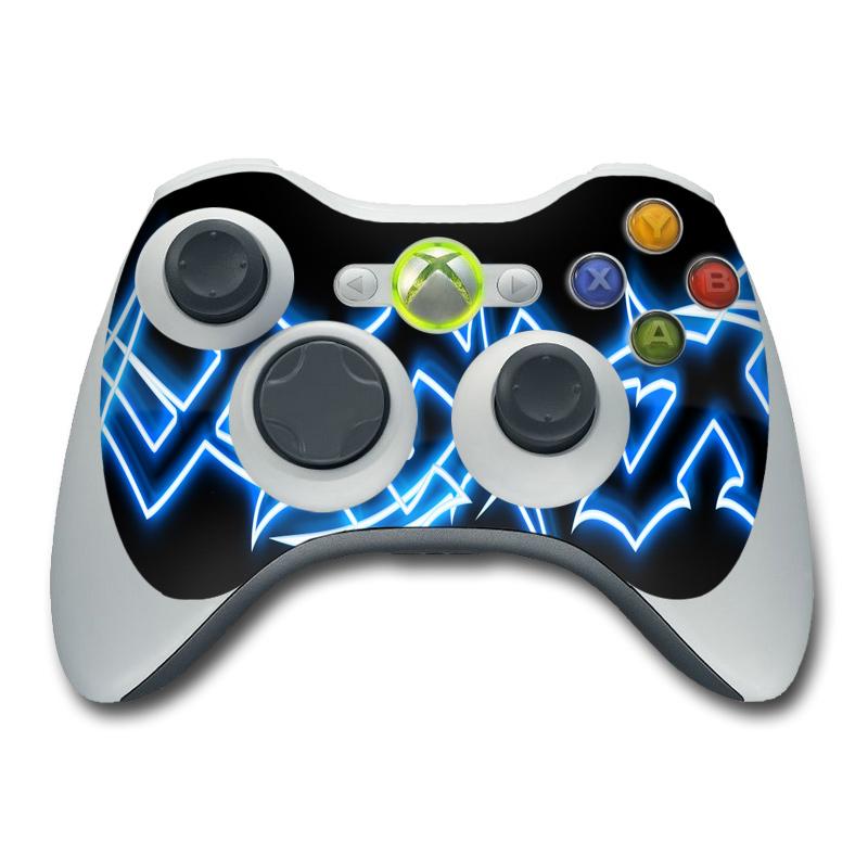 Xbox 360 Controller Skin Neon Blue Barbs DecalGirl
