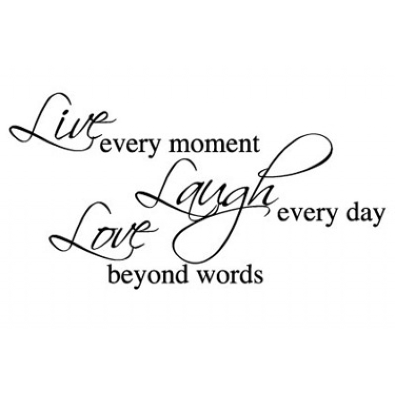 Live Love Laugh Wall Stickers