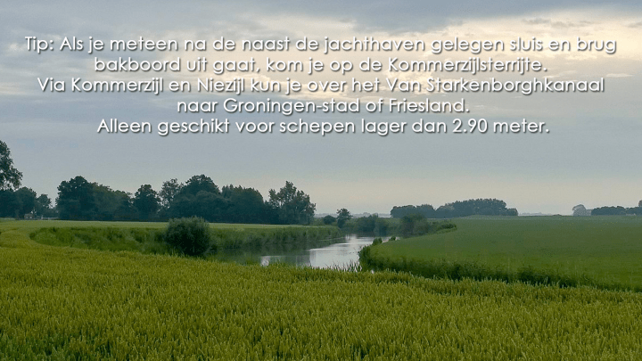 De Kommerzijlsterrijte Rondje Noord-Nederland/vaarroute van Dokkum naar Elektra - De Canicula