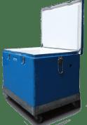 cryosoft livre la glace sèche en conteneur isotherme