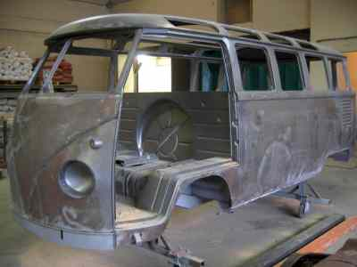 decapage combi Volkswagen carrosserie chassis aillon