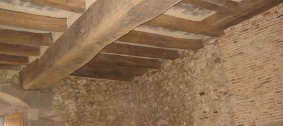 sablage de poutres, château de la vienne 86
