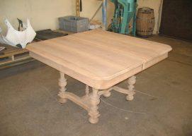 resultat du décapage par DécapSoft sur une table ancienne en bois