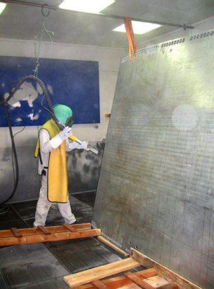 decapage inox aluminium plan central avion falcon