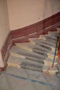 sablage peinture de sol sur ciment