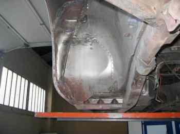 jaguar chassis apres aerogommage