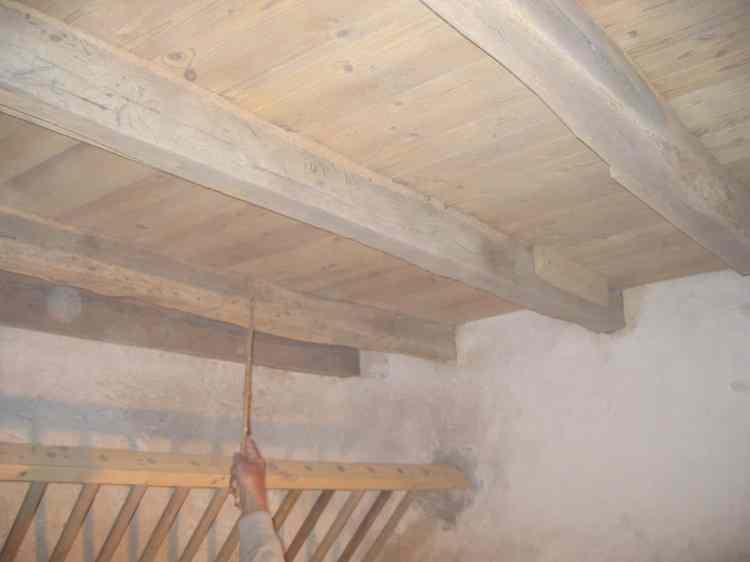 sablage Poutres ratelier et plafond