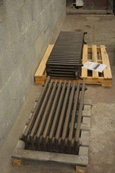 aerogommage radiateur fonte