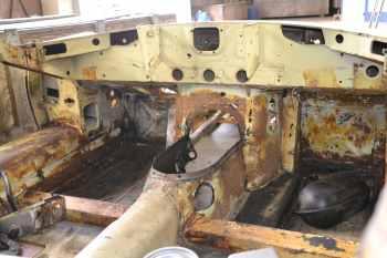 Intérieur de la Jaguar Type E