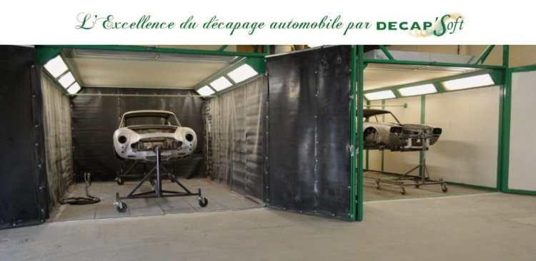 Fond du stand Décap'Soft à Rétromobile 2020