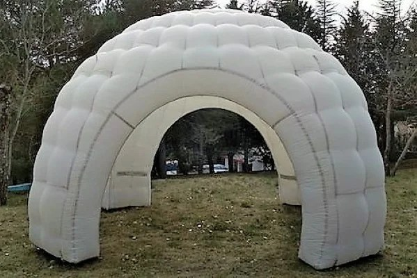 carpa estandar blanca - alquiler de carpas hinchables - decateam