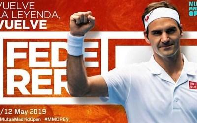 Roger Federer vuelve al Mutua Madrid Open de Tenis