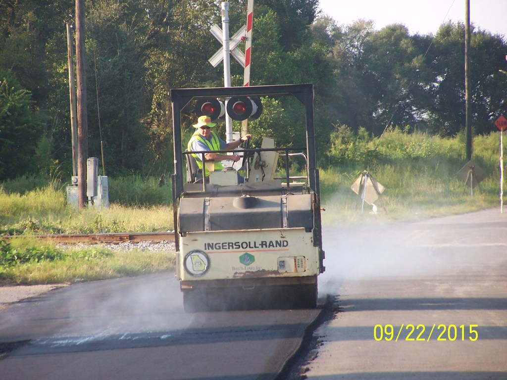 The resurfacing project was 1.2 miles from the railroad tracks to Brinson-Airport Road.