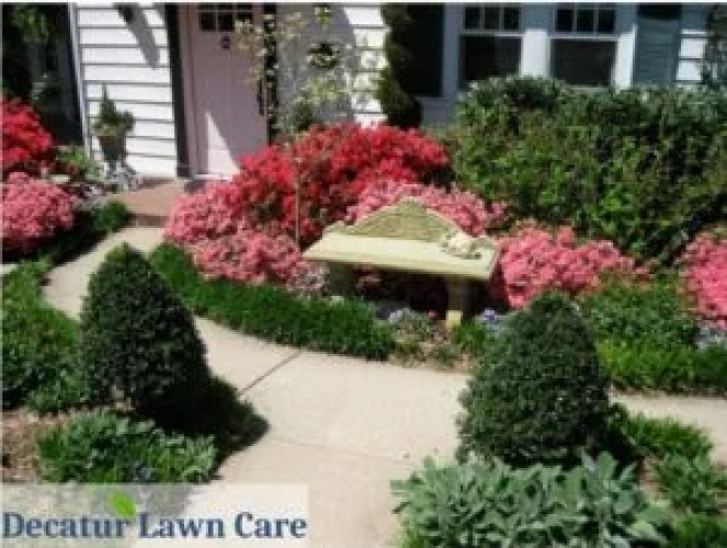 Flower bed design by Decatur Lawn Care