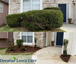 Decatur Lawn Care Shrub and Mulch Job