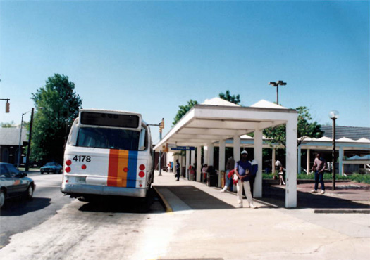 Our original bus depot, located directly in front of downtown's primary Marta rail station entrance.