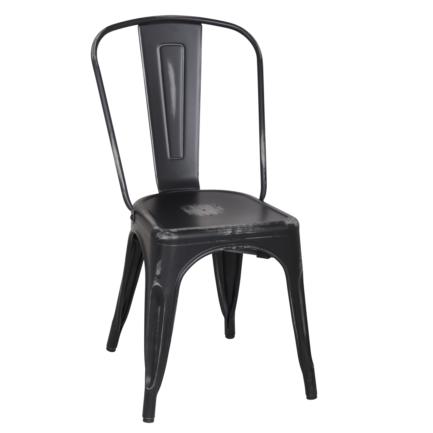 Decenthome Distressed Black Stacking Dining Chairs Ch0280 3 Ach280 3