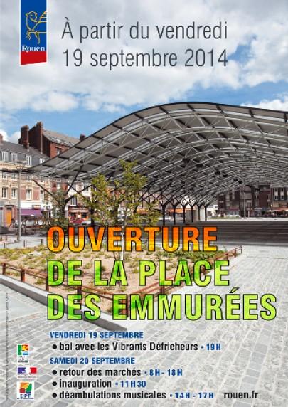 20140919 Affiche Mairie inauguration Place des Emmurées
