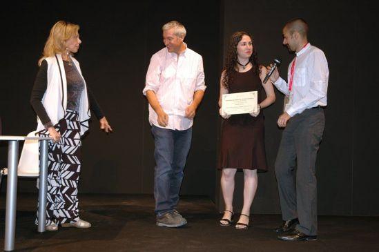 Decimononic team receiving its diploma at AJA Awards Ceremony | Photo: R. Braam