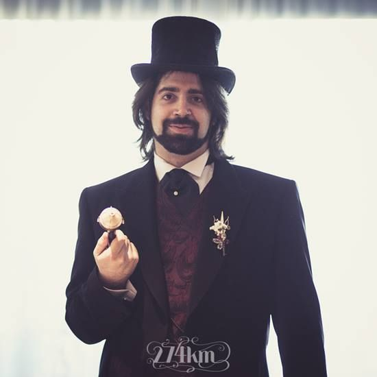 Ana and Esteve Steampunk wedding - 274km and El Costurero Real
