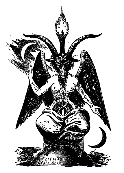 The Demon Baphomet as the embodiment of a dualistic world | Drawing by Eliphas Lévi