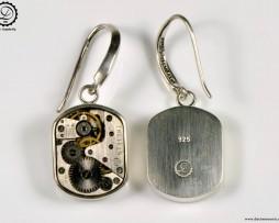Decimononic - Beta earrings | Sterling silver Steampunk earrings
