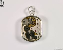 Beta Charm by Decimononic - Steampunk pendant with vintage watch movement